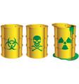 toxic barrels vector image