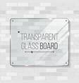 transparent glass board decorative graphic vector image