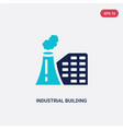 two color industrial building icon from army vector image