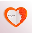 Valentines day background with paper hearts and vector image vector image