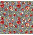 Vintage multicolor roses seamless pattern vector image vector image