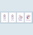 welcome party for newborn baby greeting cards vector image