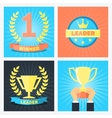 winner badges vector image