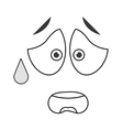 worried emoticon face icons vector image vector image