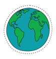 Earth in Cartoon Style North America South America vector image