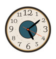 modern wall clock isolated on white vector image