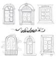 vintage window set vector image