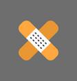 medical plaster icon bangade strip vector image