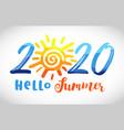 2020 sun vector image vector image