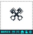 Auto service icon flat vector image vector image