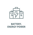 batteryenergy power line icon battery vector image vector image