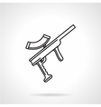 Black line icon for paintball gun vector image