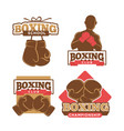 boxing club colorful logo label set on white vector image vector image