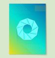 bright abstract poster with round geometric shape vector image vector image