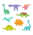 cartoon dragons and dinosaurs vector image