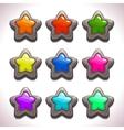Cartoon stone stars vector image vector image