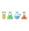 Chemical Laboratory Equipment Icons Set on White vector image