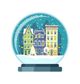 christmas snow globe with amsterdam houses vector image vector image