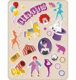 Circus stickers vector image