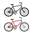 city bicycle black and white silhouette vector image vector image