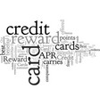 compare best reward credit cards vector image vector image
