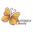 corporate identity template butterfly insect vector image vector image