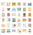 cupboard and cabinet interior furniture flat icon vector image vector image
