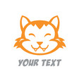 cute cat logo design vector image vector image