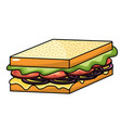 delicious sandwich fast food meal vector image vector image