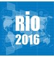 Digital screen Sign symbol Rio olympics games vector image vector image
