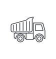 dump truck thin line icon linear symbol vector image