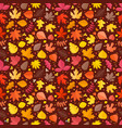 fall leaves seamless background leaves vector image