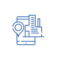 geolocation system line icon concept geolocation vector image vector image