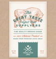 great taste perfect bison abstract meat vector image