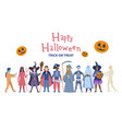 halloween party background poster or celebration vector image