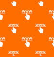 hand cursor and website pattern seamless vector image vector image