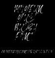 hand drawn dry brush font modern brush lettering vector image vector image
