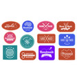 handmade badges logo graphic logotype tag label vector image