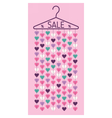 Hanger with hearts Sale discount banner vector image vector image