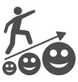 happy man career growth flat icon vector image vector image