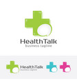 health consulting logo design vector image vector image