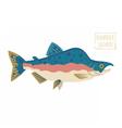 Humpback Salmon vector image vector image