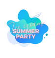 ice cream summer party trendy design template vector image