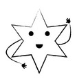 kawaii star icon vector image vector image