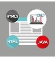 laptop graphs language code link web vector image vector image