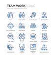 line team work icons vector image