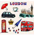 london symbols set drawings vector image