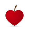 Love Heart Fruit Design vector image