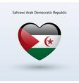Love Sahrawi Arab Democratic Republic symbol Heart vector image vector image