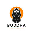 maitreya buddha logo vector image